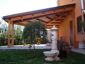 Struttura in legno a spicchio progettata e realizzata a Ragusa