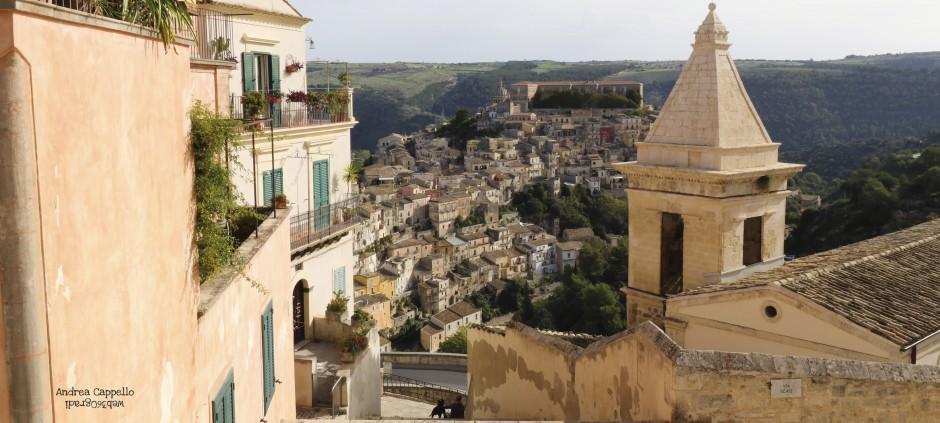 Vista su Ibla da Ragusa